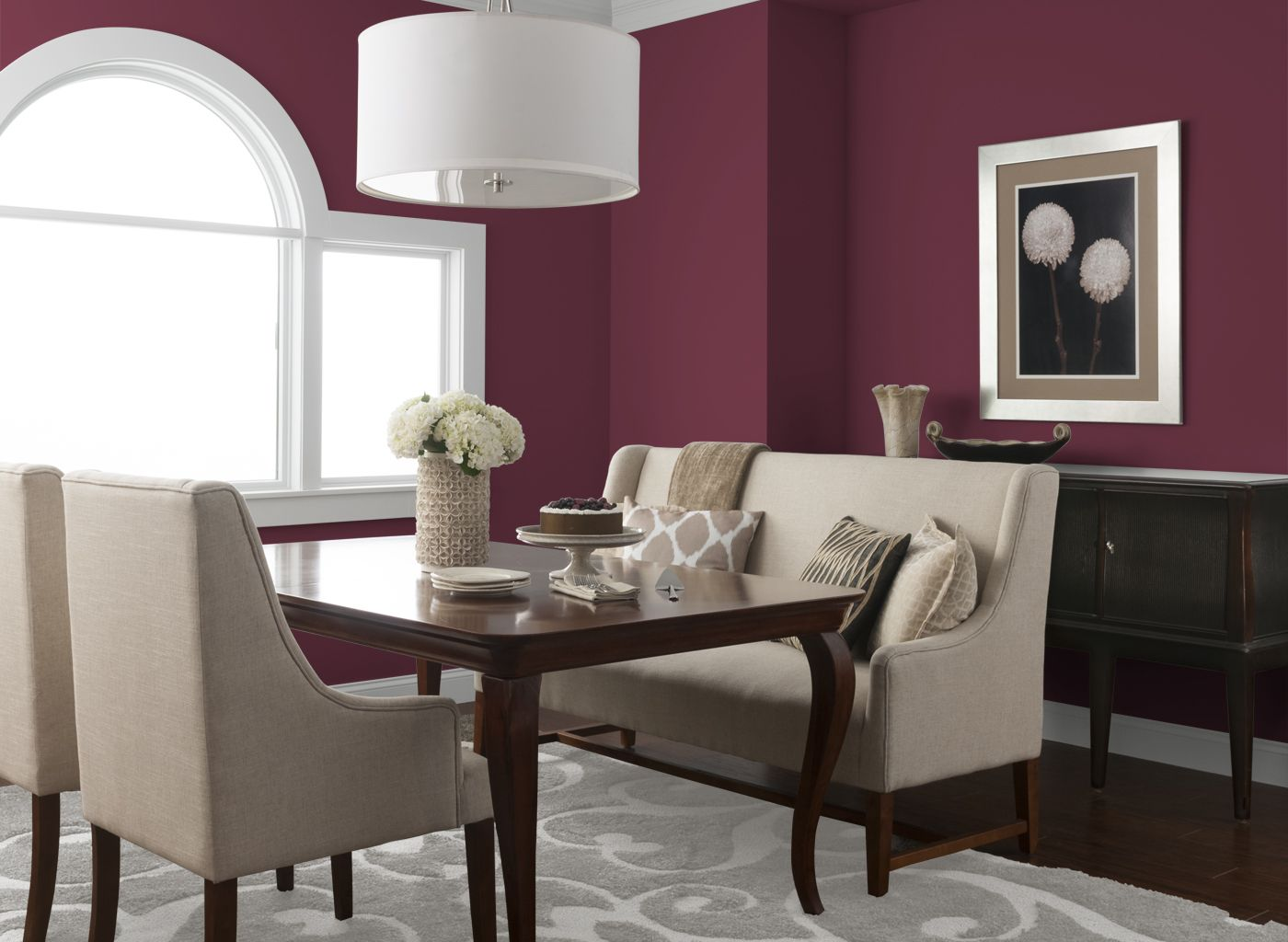 dining room in bold sangria | stuff to buy | pinterest | sangria