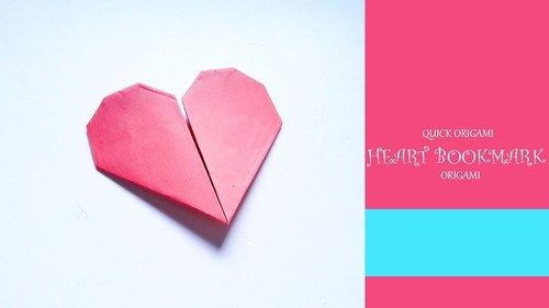 How To Make An Origami Heart Bookmark Make Valentine Origami