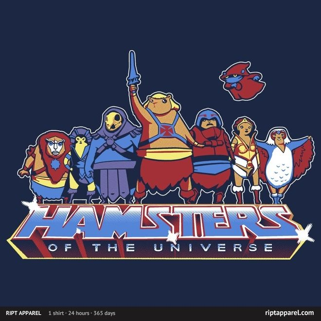 """""""Hamsters Of The Universe"""" by Fuacka. RiptApparel Limited Edition T-shirt - Mar 08, 2013"""