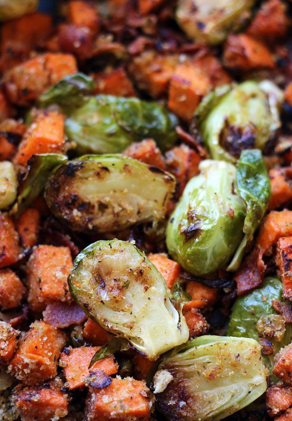 Brussels Sprouts Sweet Potato Hash Sprouting Sweet