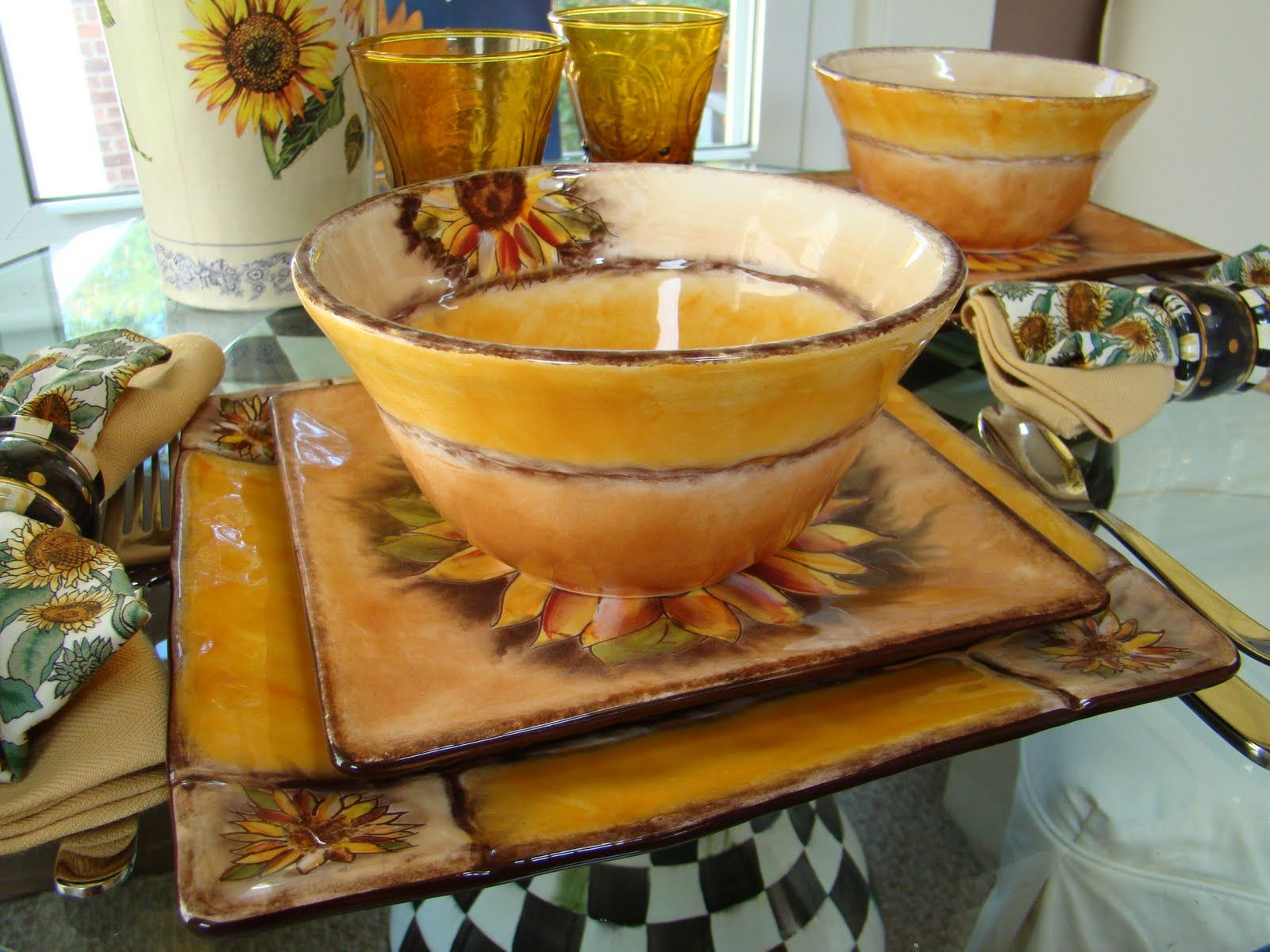 Clay Art Dinnerware, Tuscan Sunflower Collection - I love these ...