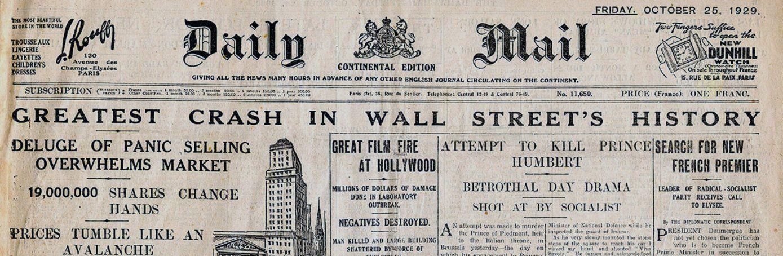 Stock Market Crash Of 1929 Background Stock Market Crash