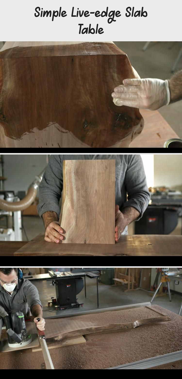 Simple Live-Edge Slab Table | Popular Woodworking Magazine #tedswoodworkingProje... -  Simple Live-Edge Slab Table | Popular Woodworking Magazine #tedswoodworkingProjects #tedswoodworkin - #bfgifts #LiveEdge #Magazine #popular #Simple #Slab #Table #tedswoodworkingProje #Woodworking #woodworkingmagazine #woodworkingsupplies