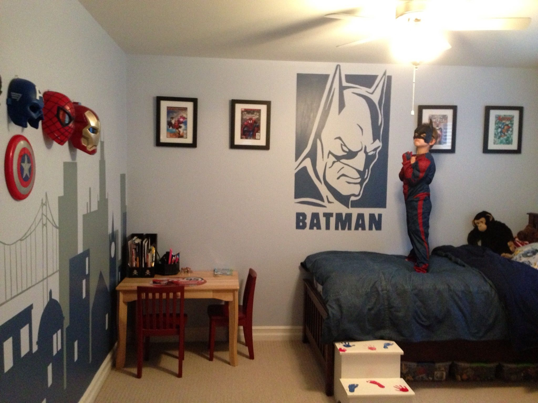 Superhero bedroom. I want to add the wall paint to my boys superhero ...