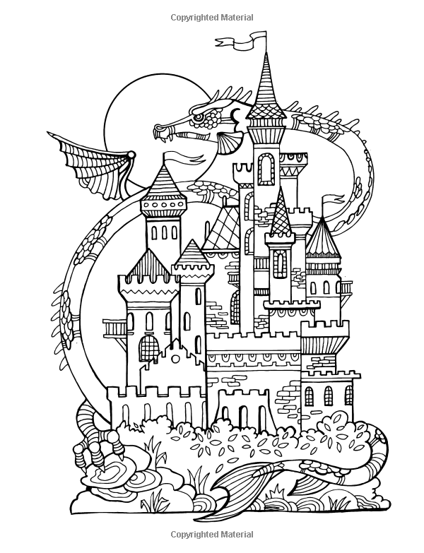 Coloring Books For Girls: Princess & Unicorn Designs