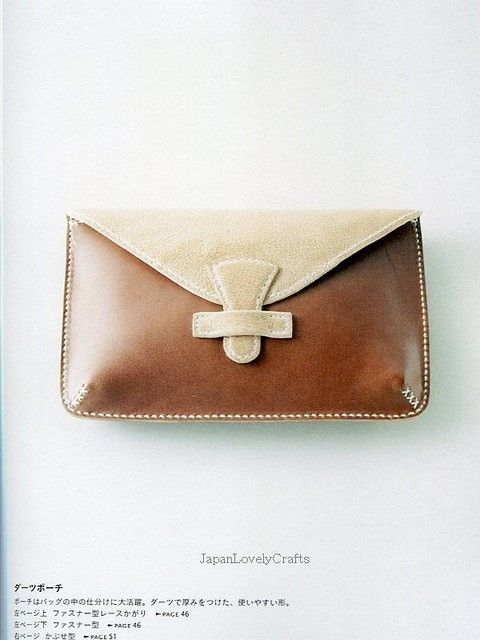 Hand-Sewn Leather Zakka Goods - Japanese Sewing Pattern book for Leather  Craft - Bag 379cfabd875d5