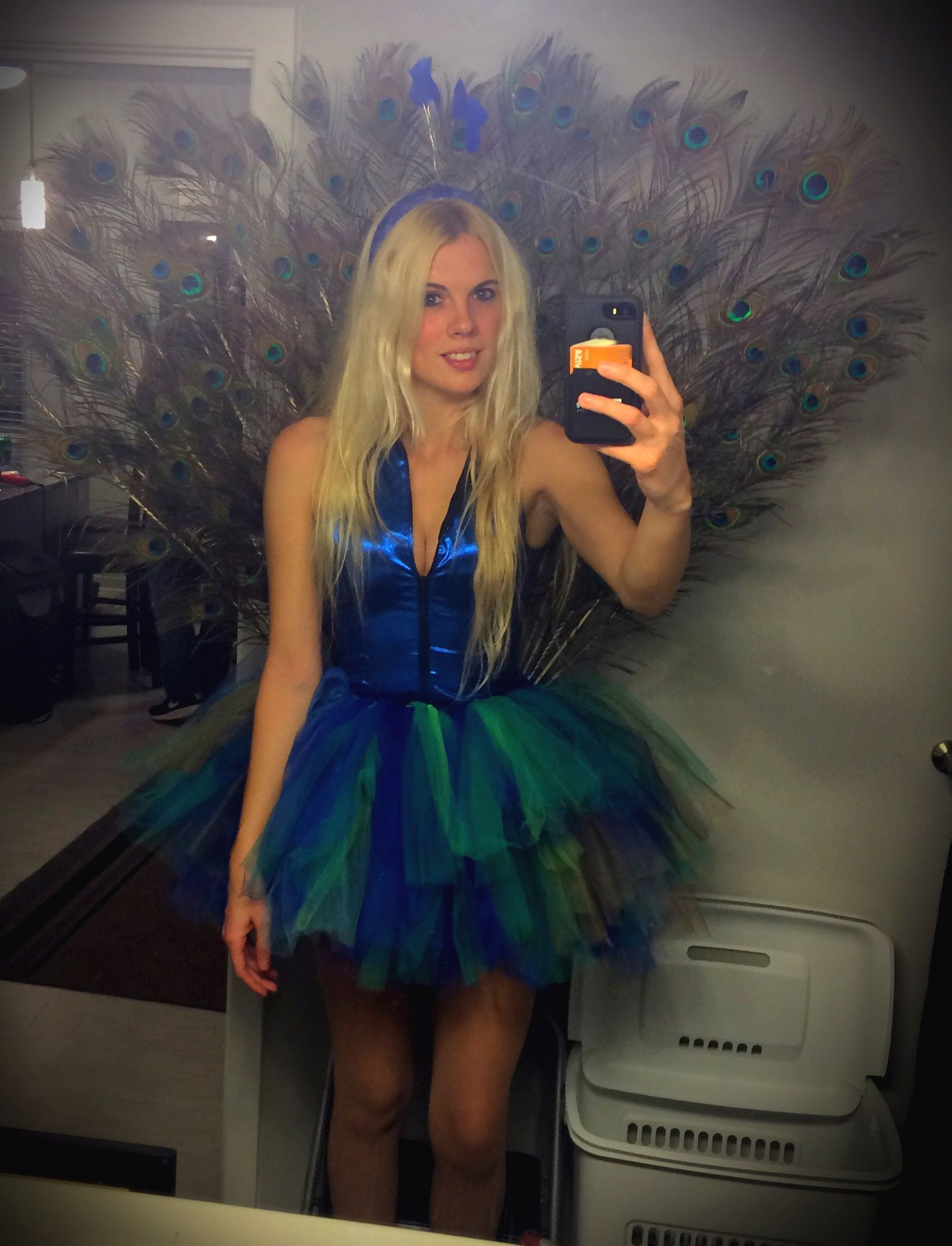 1e17394aa DIY, halloween costume, peacock, costume idea, women's, Peacock feathers