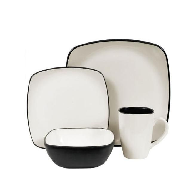 Casual Dinnerware For Less  sc 1 st  Pinterest : square stoneware dinnerware sets - pezcame.com