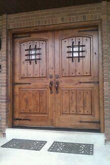 Exterior Knotty Alder Double Entry Doors Rustic Knotty Alder Door Double Doors Exterior Double Entry Doors Wood Double Entry Doors