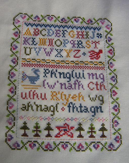 Horror Goth Cross Stitch Spooky Lovecraft Cross Stitch Halloween Cross Stitch Cthulhu Counted Cross Stitch Embroidery Pattern PDF