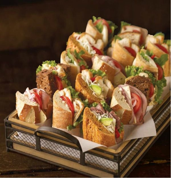 Hard to decide which to eat first. Sandwich Basket @Corner Bakery Cafe