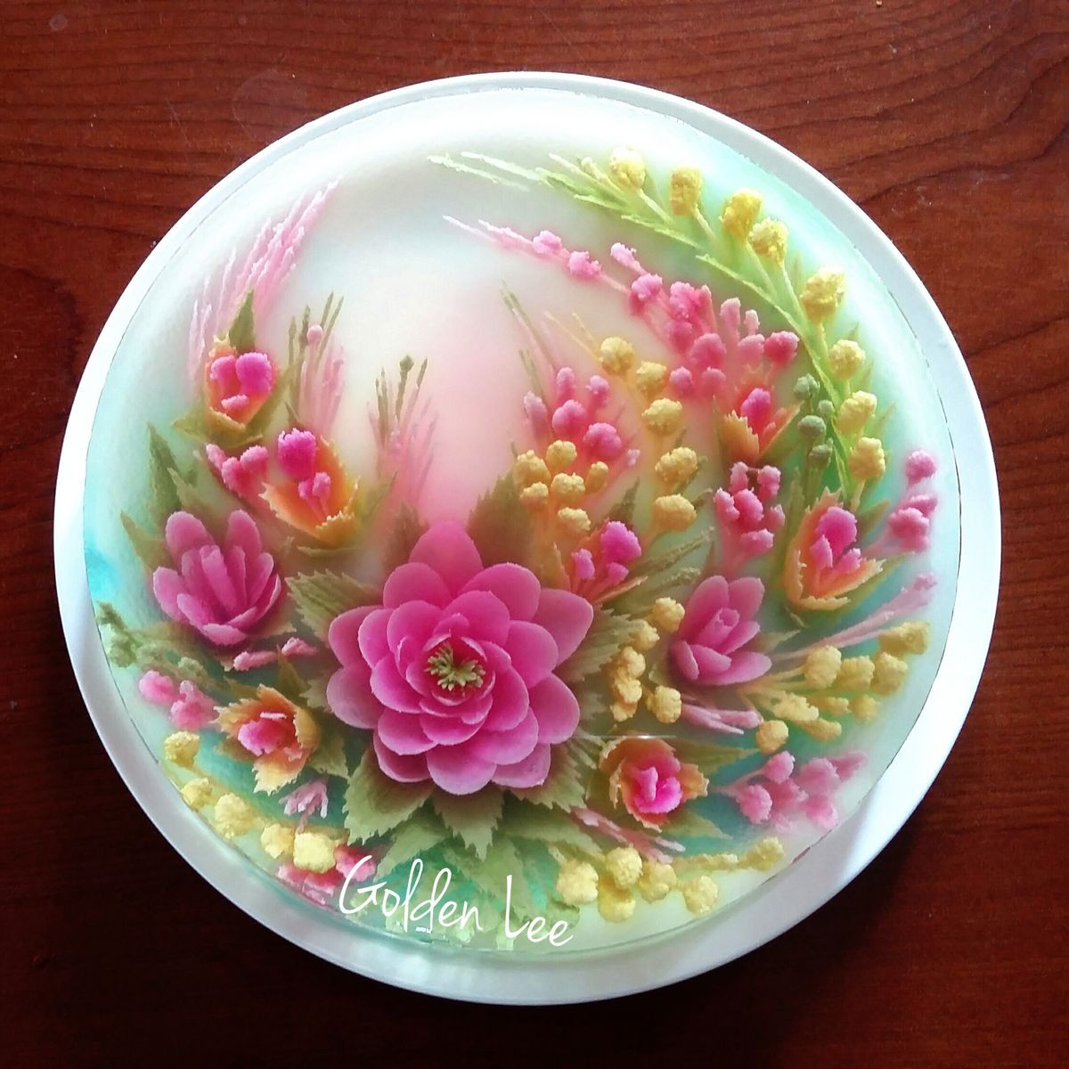 3d jelly flowers cake jelly flower cakes that i love for Art cake decoration