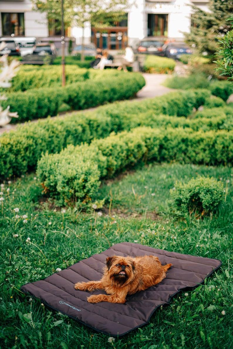 Dog Roll up Travel Mat, waterproof dog mat, portable