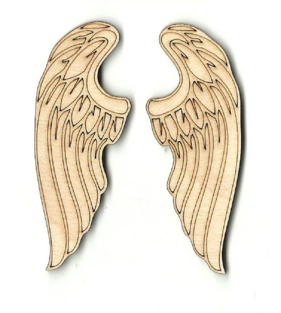 Pair of Angel Wings Unfinished Laser Cut Wood WNG1 | szablony ...