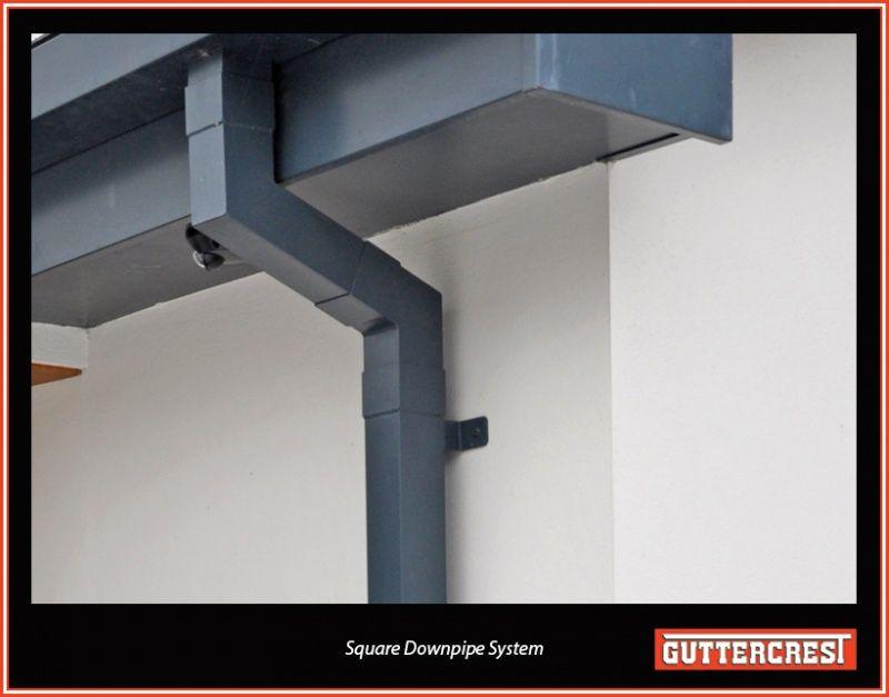 Aluminium Rectangular Downpipes Aluminium Guttering Systems Aluminium With Images Water Pipes Exterior House Remodel Rectangular