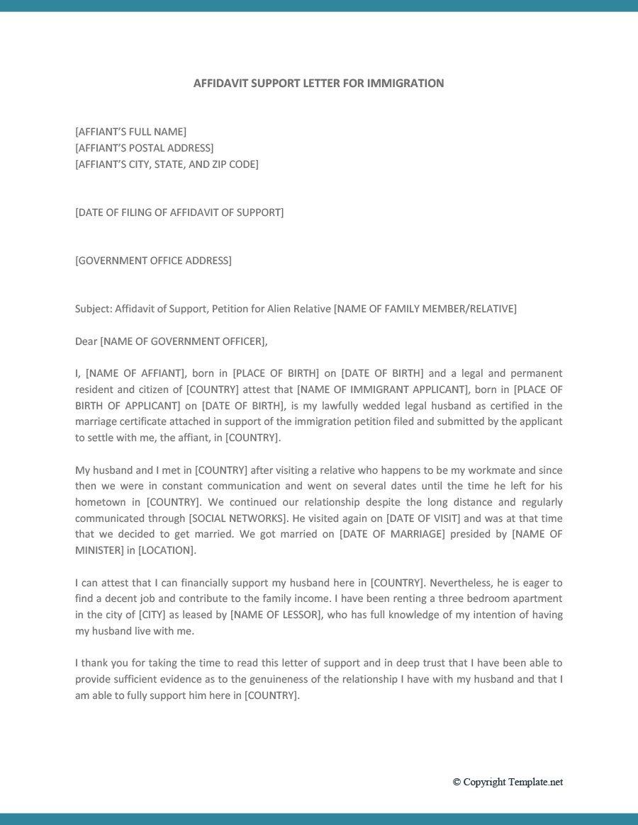 Immigration Letter Of Support Immigration Letter Of Re Mendation For Family Member Support Letter Lettering Simple Cover Letter Template