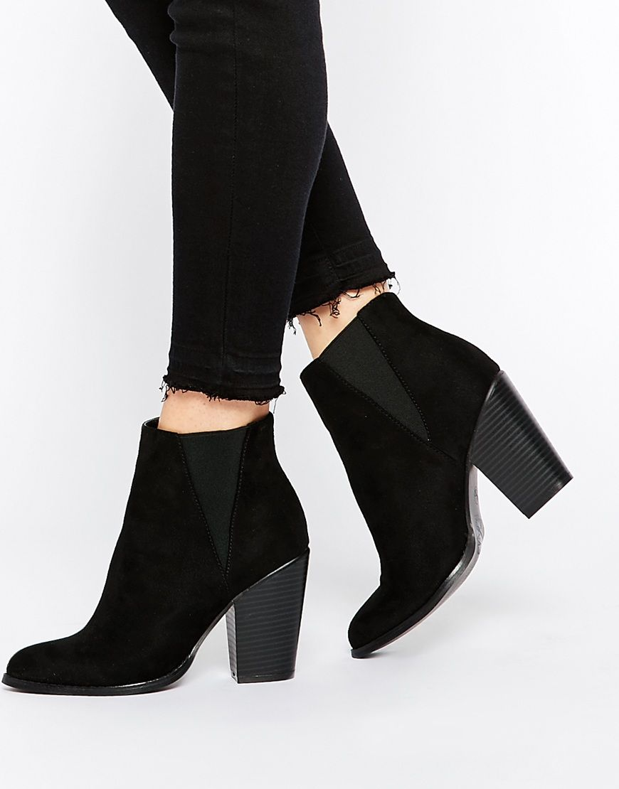 Image 1 of New Look Block Heel Ankle Boot | Wishlist. | Pinterest ...
