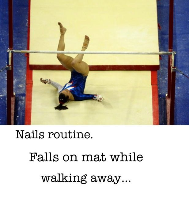 vault runway gymnastics. Or When You Trip While Stepping Onto The Vault Runway. . Did That In. Gymnastics Runway