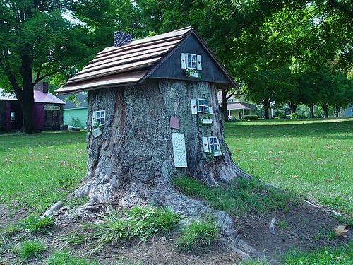 Yard Decorations Recycling Tree Stumps And Backyard Landscaping Ideas: