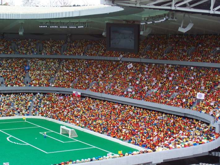 Thats quite a lot of 1.5 inch tall soccer fans.  Thats also the most impressive Lego model ever made.