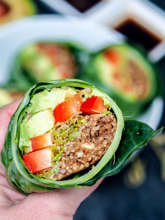 Collard wraps ready in minutes and bursting with flavors from the guardians of the food raw vegan collard wraps uber healthy and packed with superfood ingredients perfect for summer forumfinder Images