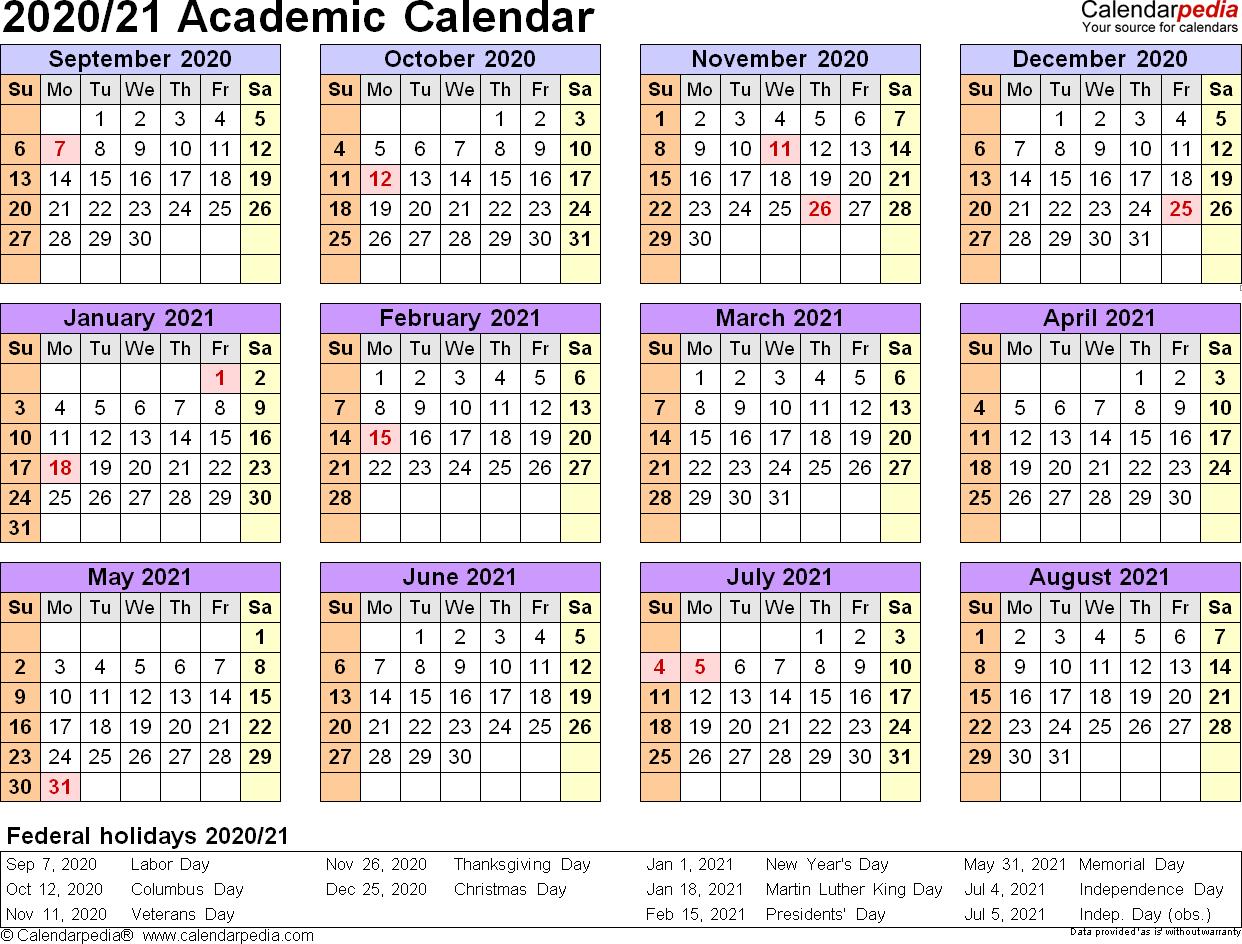 2020 Academic Calendar Academic Calendar Monthlycalendartemplate In 2020 Free Printable Calendar Templates Calendar Printables Calendar Template