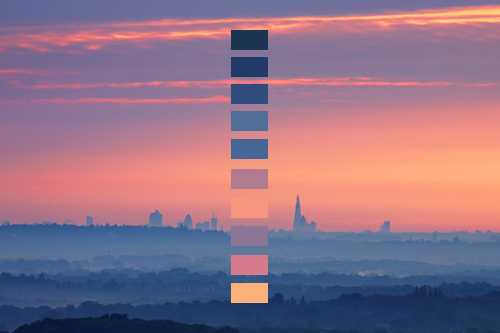 Color Palettes Derived from Nature Photography--WONDERFUL