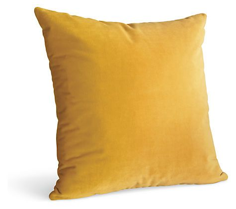 Velvet gold pillow pillows accessories room board for Room and board pillows