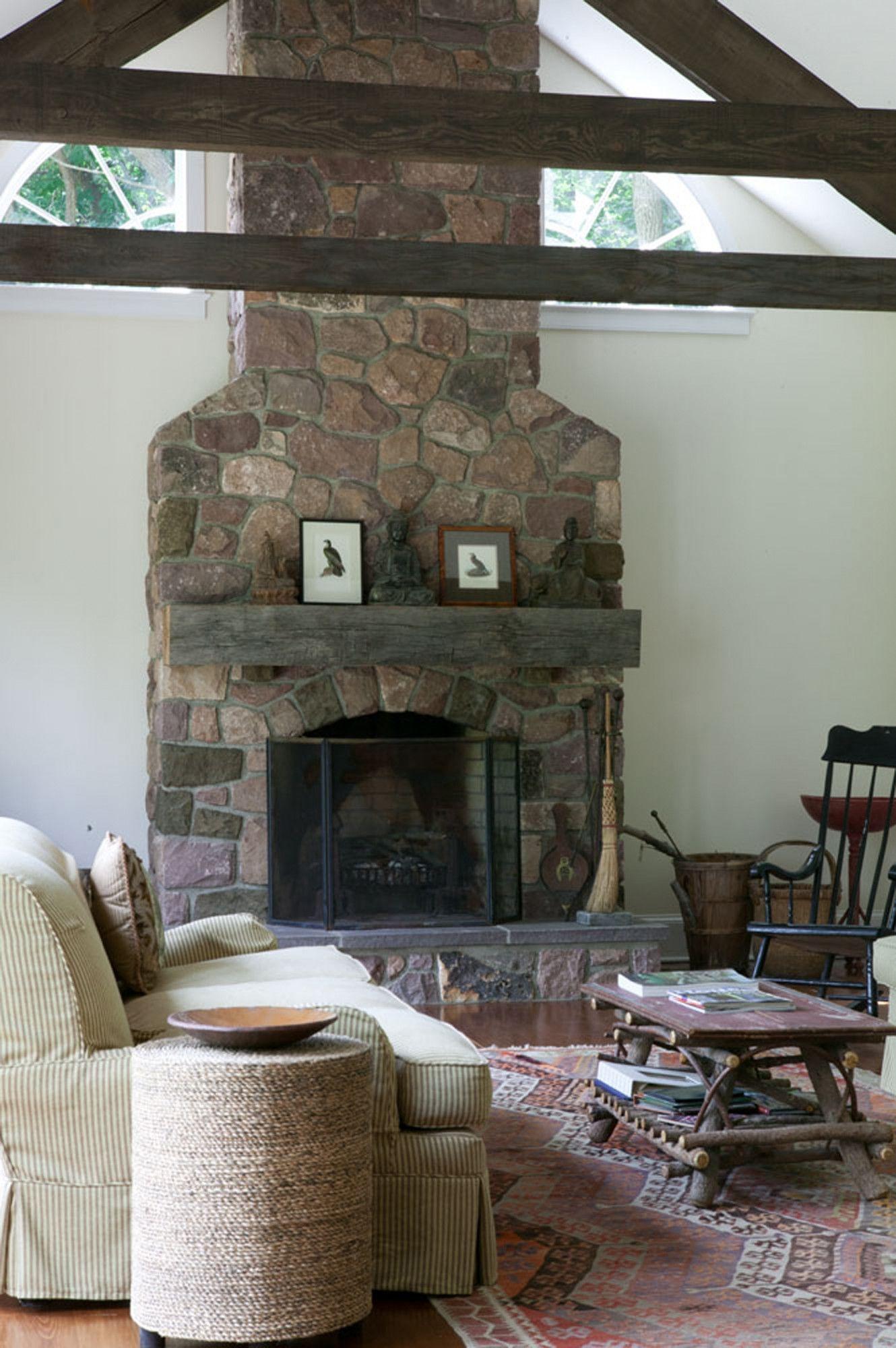 black farmhouse fireplace screen
