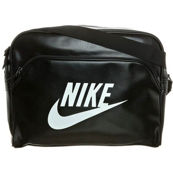 da6f09f52c03 Nike Sportswear HERITAGE Across body bag black ( 54) ❤ liked on Polyvore  featuring bags