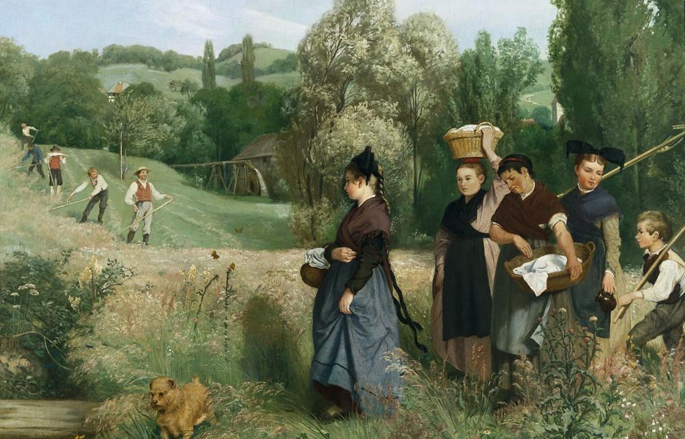 Heuernte 1871 Von Hans Thoma