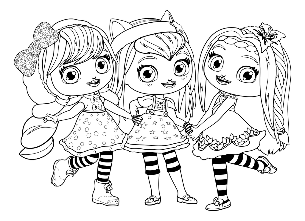 Little Charmers Group Coloring Sheet Nick Jr Coloring Pages Little Charmers Puppy Coloring Pages