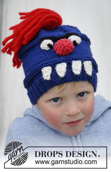 Free Pattern Drengestrik Pinterest Monster Hat Monsters And