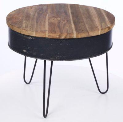 Couchtisch 50 x 50 cm Recycle Wood/ Zink bunt Jetzt bestellen unter - marmor wohnzimmer tische