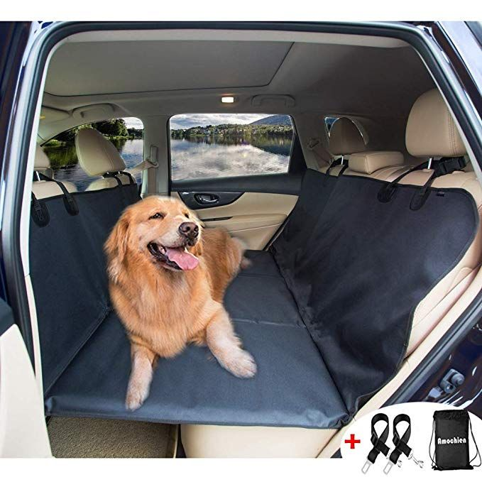 Amochien Backseat Bridge For Dogs Pet Car Seat Cover Ideal For Trucks Suvs And Full Sized Sedans Pet Heavy D Dog Hammock Dog Seat Covers Dog Car Seat Cover