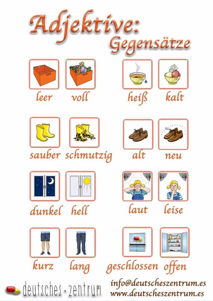 adjektive adjetivosgram225tica alem225n deutsch daf