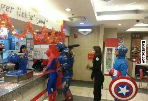 Avengers Are Hungry - #GagsBox, #funny, #lol, #fun, #humor, #comics, #meme, #gag, #box, #lol pics, #Funny pics,