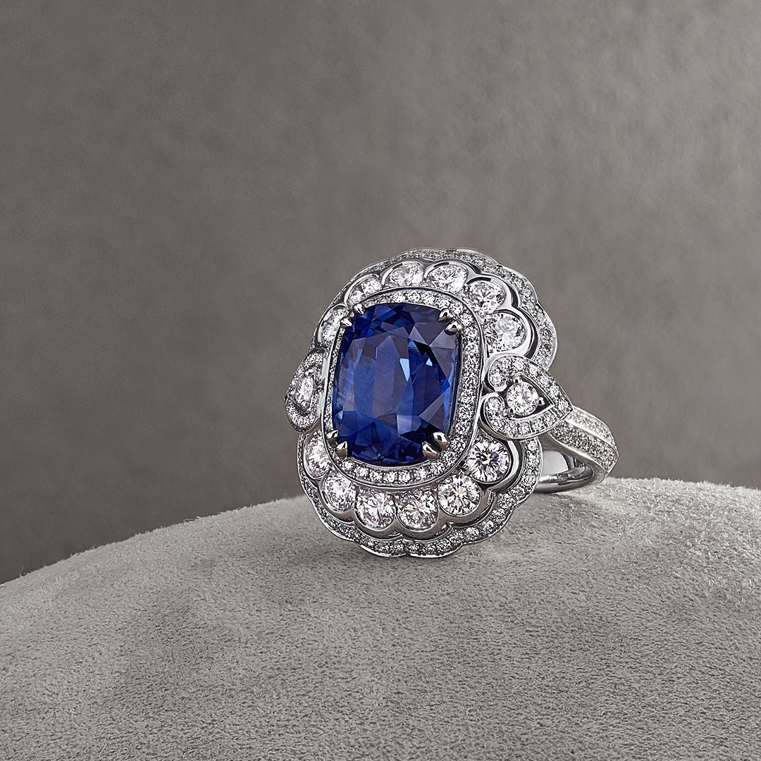 Jewelled Vault sapphire ring from the House of Garrard