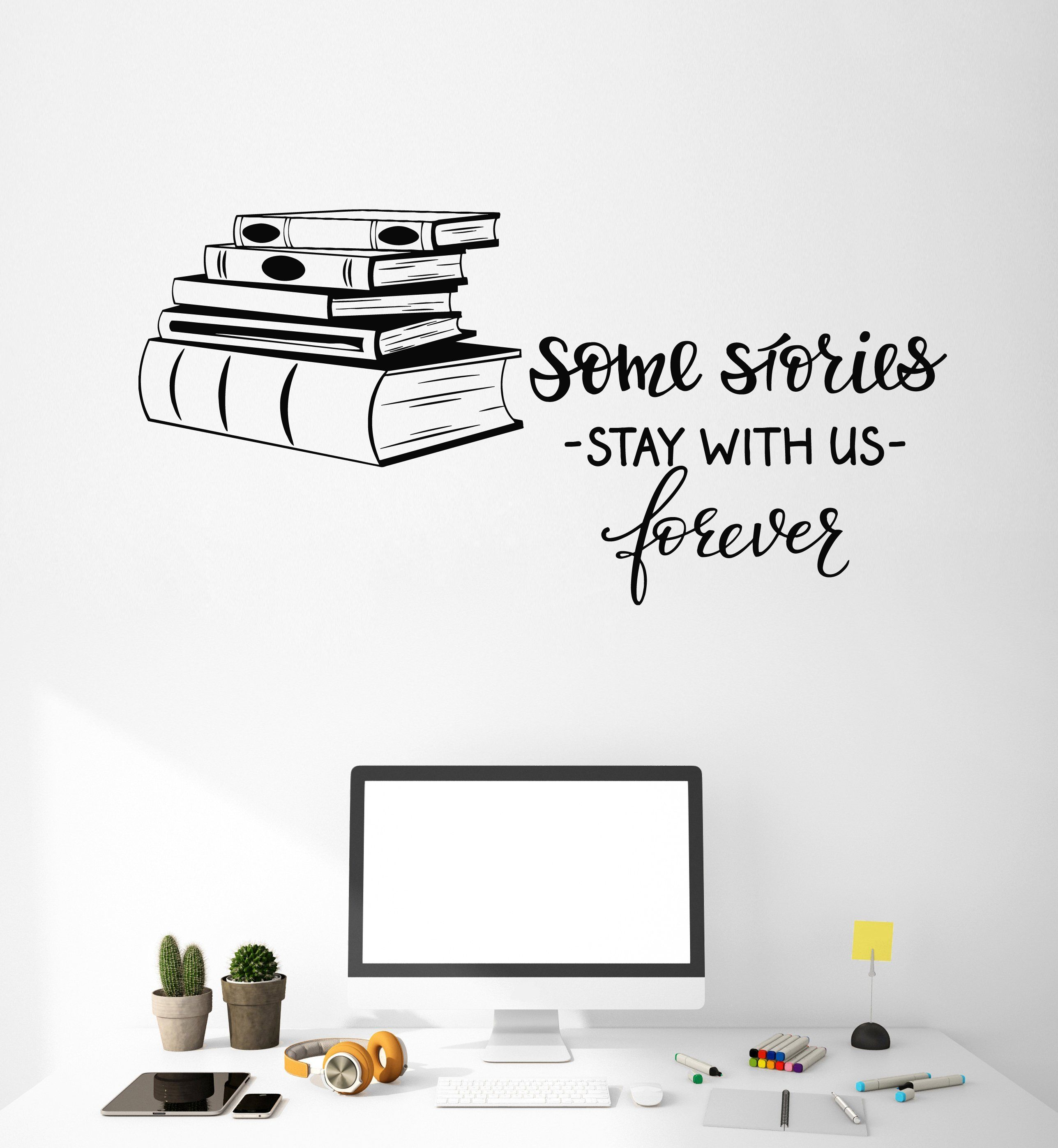 Vinyl Wall Decal Books Shop Quote Library Reading Room Decor Art Stickers Mural Unique Gift Ig5091 Reading Room Decor Book Wall Reading Room [ 2793 x 2575 Pixel ]