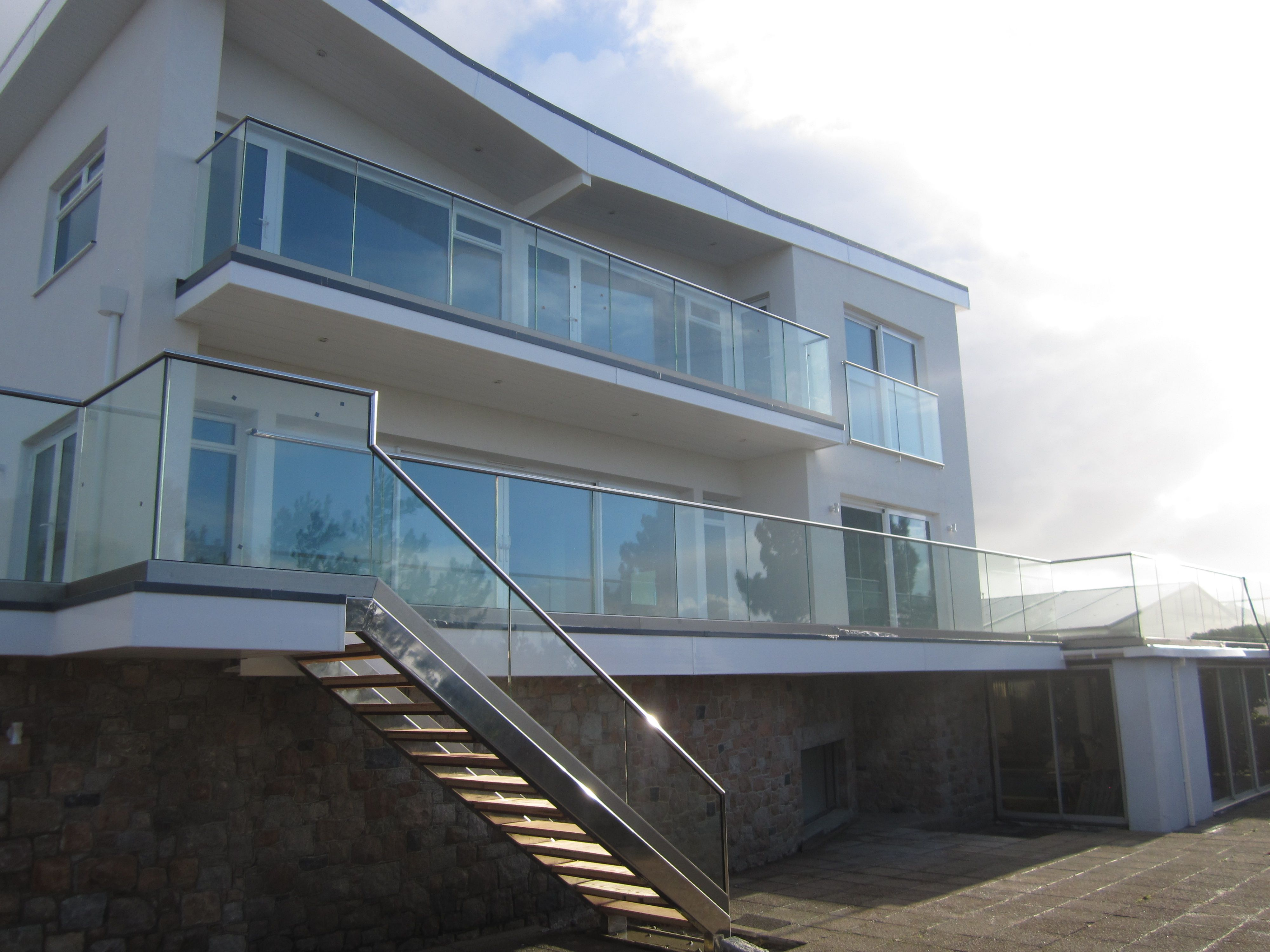 Stainless Steel, Glass Balcony and Stairs #StainlessSteel#metalwork ...
