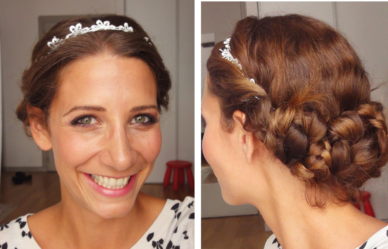 Un coiffure romantique à faire avec un headband et gibson