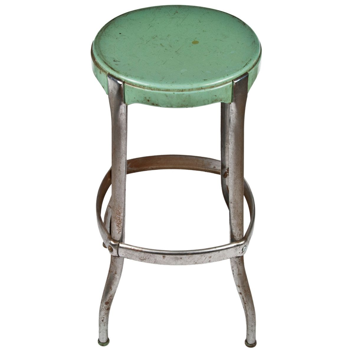 Cosco Chippy Red Metal Kitchen Cart Movable Painted Vintage: Cosco Steel Kitchen Stool