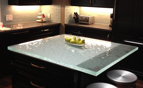 ThinkGlass Glass Countertops kitchen countertops My Space