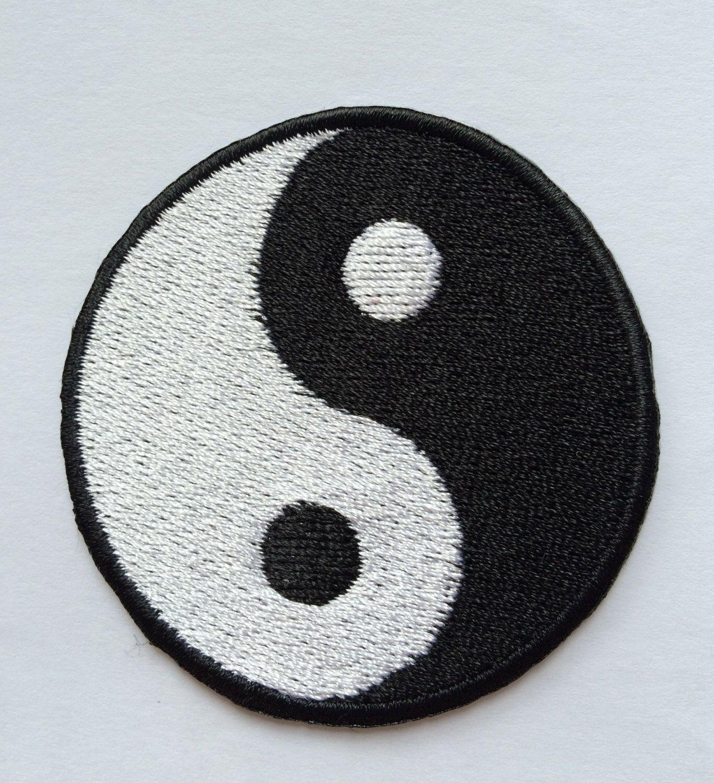Free Shipping 6cm Tai Chi Yin Yang Symbol Full Embroidered Iron
