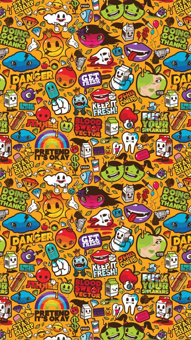 Pin On Backgrounds Cartoon art wallpaper hd