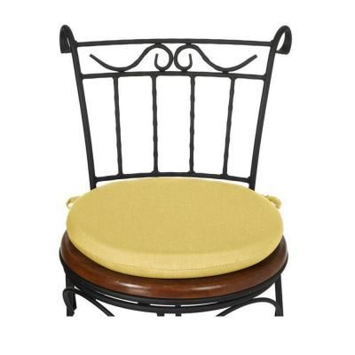 Buttercup Sunbrella Round Bistro Chair Cushion Round Bistro Chair