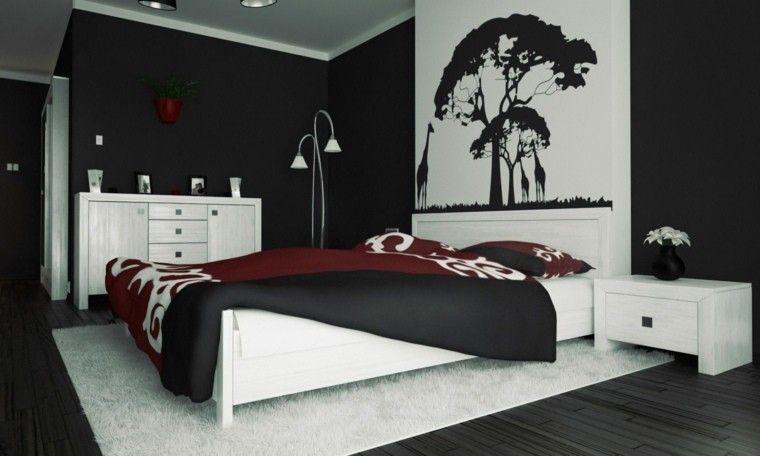 dormitorios en blanco y negro - Buscar con Google