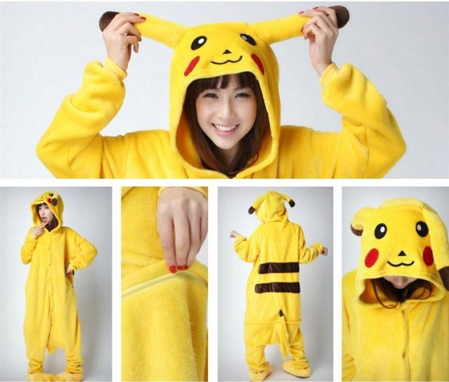 pas cher adulte animal onesie jaune pikachu cosplay. Black Bedroom Furniture Sets. Home Design Ideas