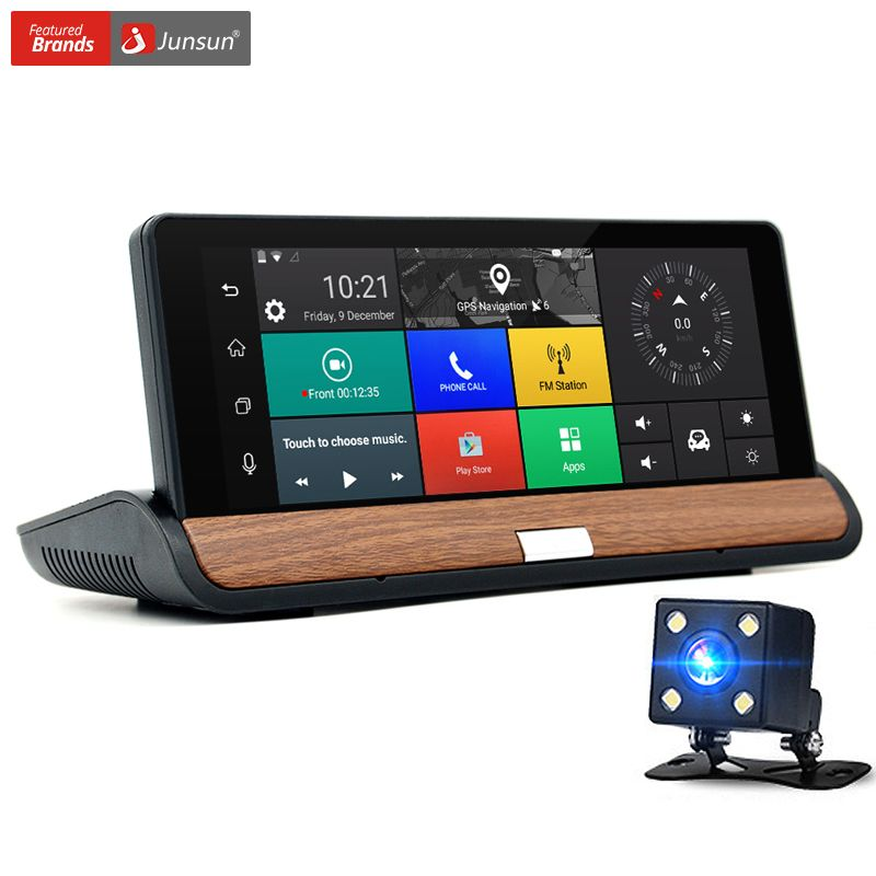 Junsun New 3G 7 inch Car GPS Navigation Bluetooth Android 5.0 Navigators Automobile with DVR Car sat nav Free maps