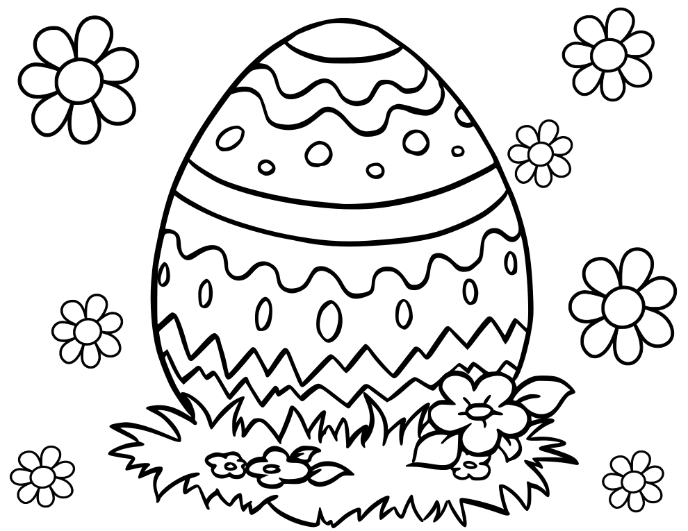 Cute Easter Egg Coloring Page Coloring Easter Eggs Easter Egg Coloring Pages Easter Coloring Pictures